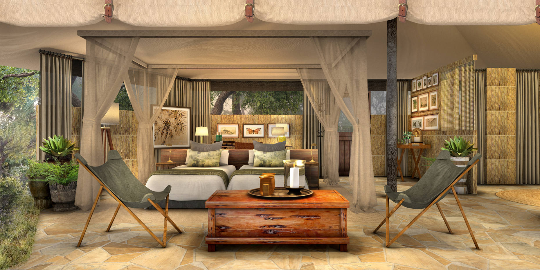 Asila Africa's Roho ya Selous is a sleek and stylish new camp in the heart of Tanzania's Selous Game Reserve