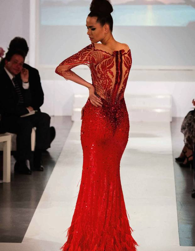 A Michael Cinco gown at Prospero World's Philippine Fashion Show in