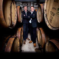 Rare Whisky 101 co-founders Andy Simpson (left) and David Robertson, who have private clients owning more than 100 casks of whisky