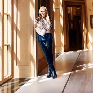 Tory Burch in the Barnes Foundation's art gallery