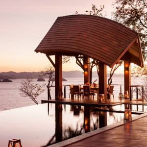 The Four Seasons Resort Costa Rica at Peninsula Papagayo is set amid lush tropical forest and pristine beaches