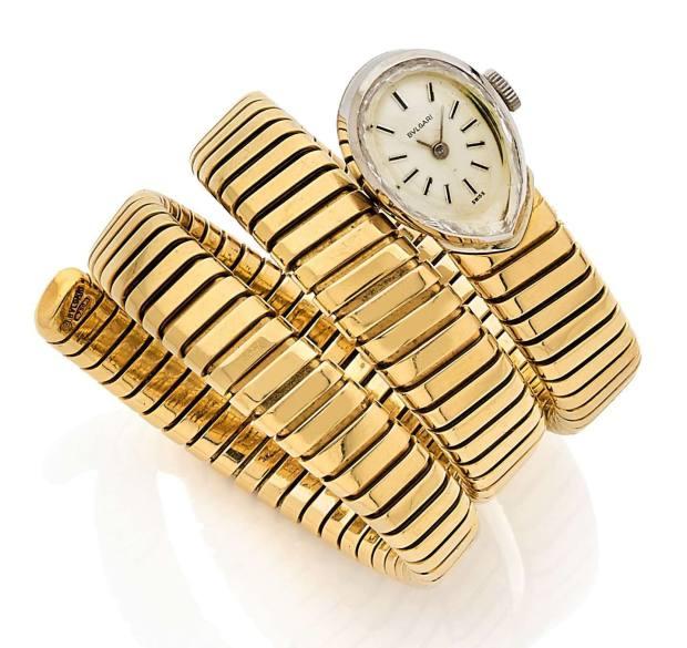 Vintage 1960s Bulgari Serpenti yellow-gold bracelet watch, €7,000-€9,000