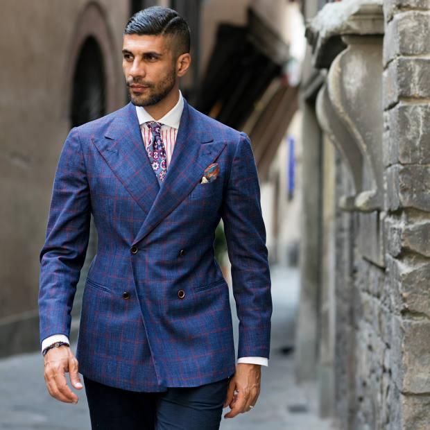 Khaled Nasr wears Sciamat suit, Finamore shirt, Cordone 1956 tie and Monsieur Fox pocket square