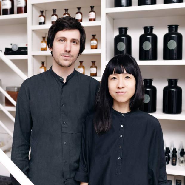 Manuel Kuschnig and Shizuko Yoshikuni, who create bespoke scents as Aoiro Airdesign