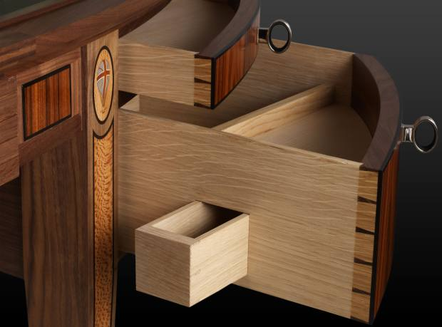 Secret drawers by Linley.