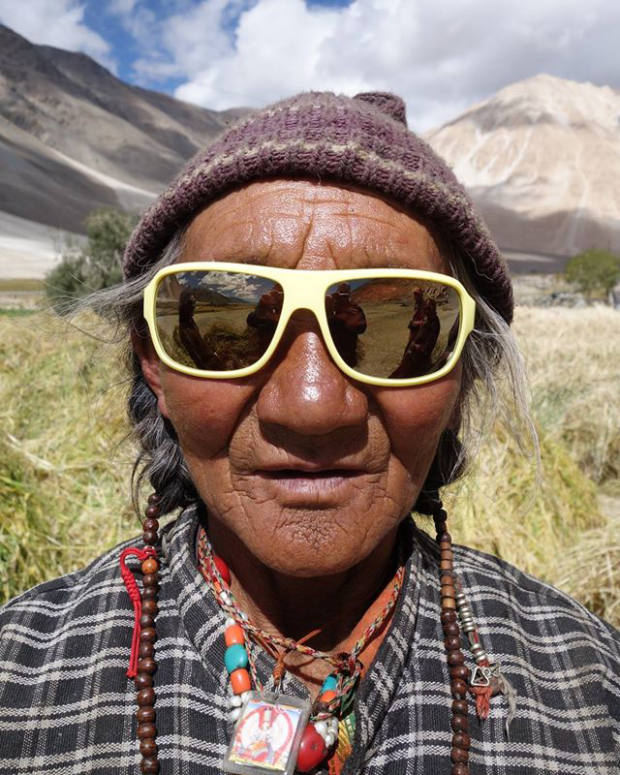 Mathieu's reconditioned sunglasses are donated to Himalayan communities