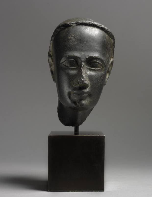 1st century BC–1st century AD Egyptian diorite head of a priest, £245,000 from Daniel Katz