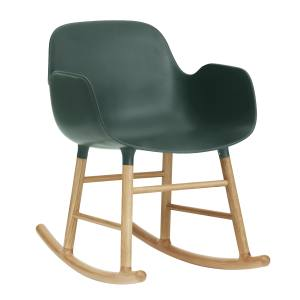 Normann Copenhagen Form rocking chair (73cm x 56cm x 65cm) in plastic and oak, £390. Also in other colours