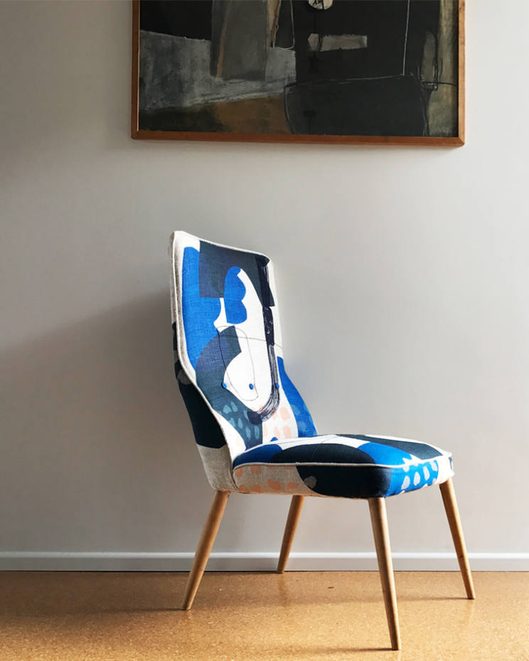 Maxine Sutton's button-backed Blues chair