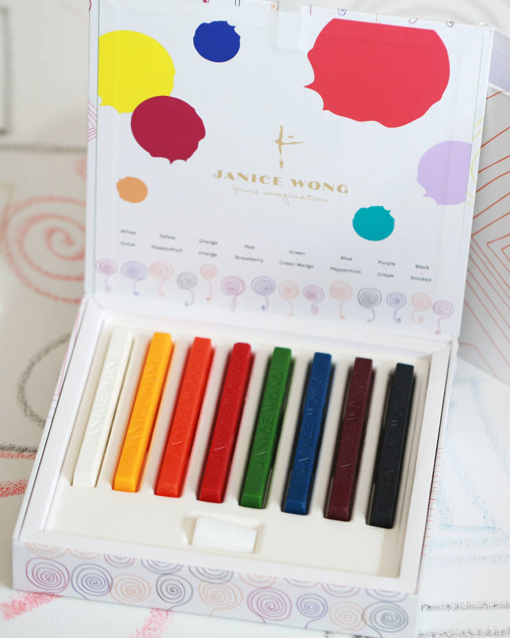 Janice Wong chocolate crayons, £25 for eight at Harrods