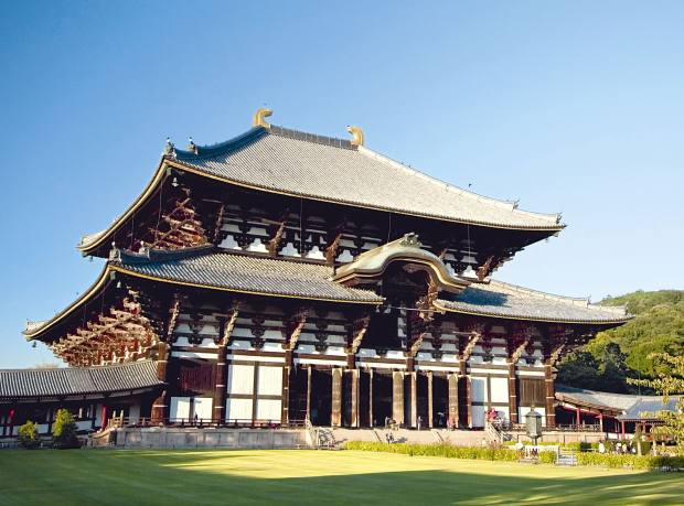 The city of Nara is home to world-heritage temples and shrines, including Todaji temple – site of Japan's largest statue of the Buddha.