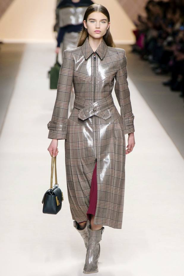 Fendi vinyl-coated wool coat, £3,850