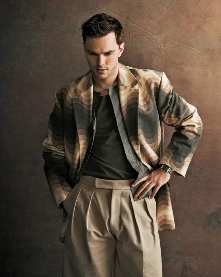 Dries Van Noten cotton blazer, £863. Ermenegildo Zegna Couture cotton shirt, £490, and cotton T-shirt, £660. Boss wool shorts, £179. Jaeger-LeCoultre stainless steel Reverso Classic Large Duoface Small Seconds watch on calfskin strap, £7,850