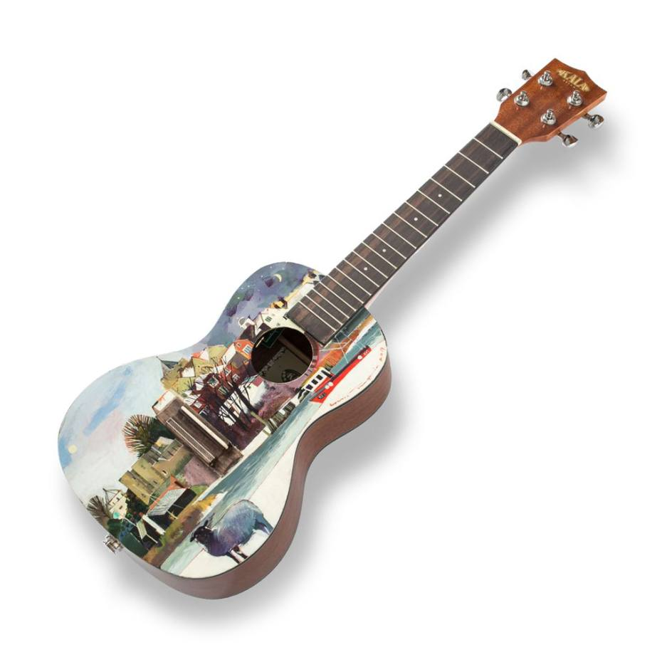 The Rye Town ukulele, painted by Louis Turpin