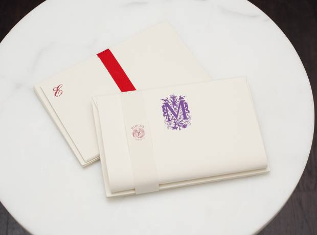 Personalised writing paper handmade at Antica Legatoria Piazzesi, Venice