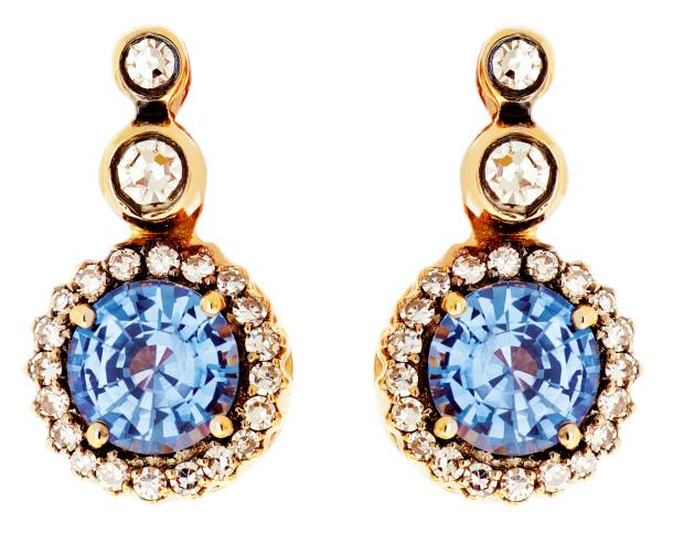 Selim Mouzannar sapphire earrings, £1,940, from harrods.com