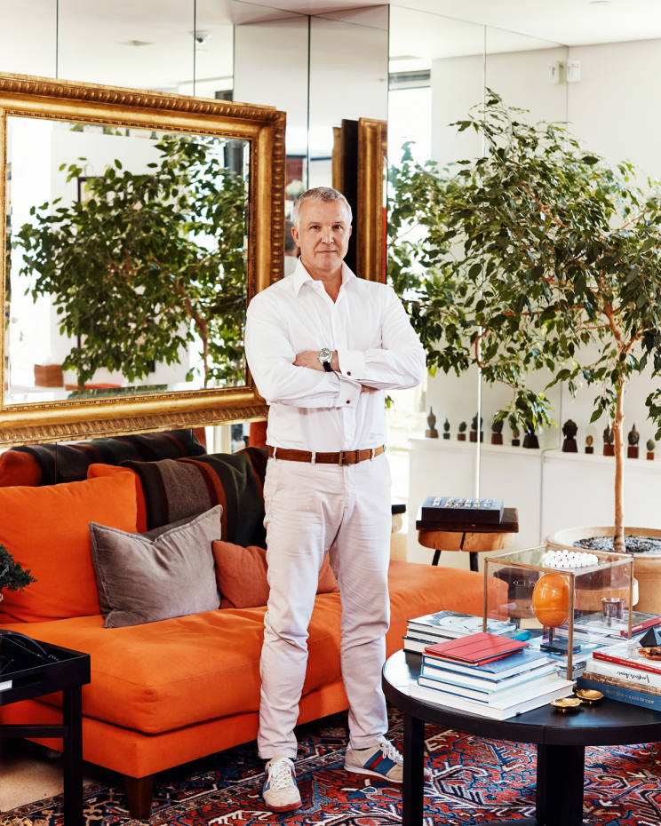 James Taffin de Givenchy at home in New York