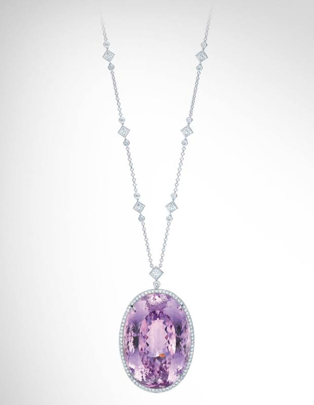 Tiffany & Co kunzite and diamond pendant necklace, £97,000