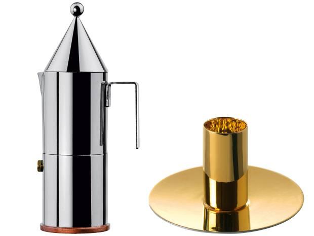 From left: Alessi espresso coffee maker, £185. Fürstenberg espresso cup and saucer, €237