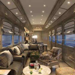 The Belmond Andean Explorer's comfortable lounge car