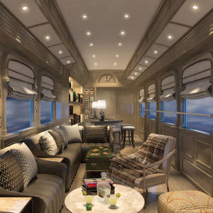 The Belmond Andean Explorer's comfortable lounge car