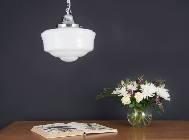 An Opaline glass ceiling lamp from the former Czechoslovakia, £384