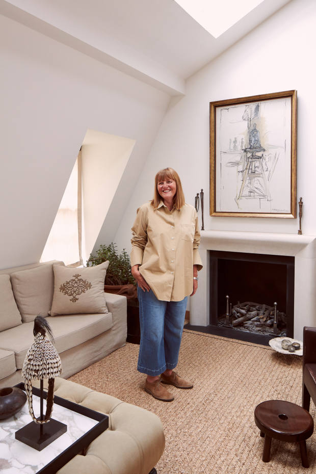 Isabel Ettedgui at home in London