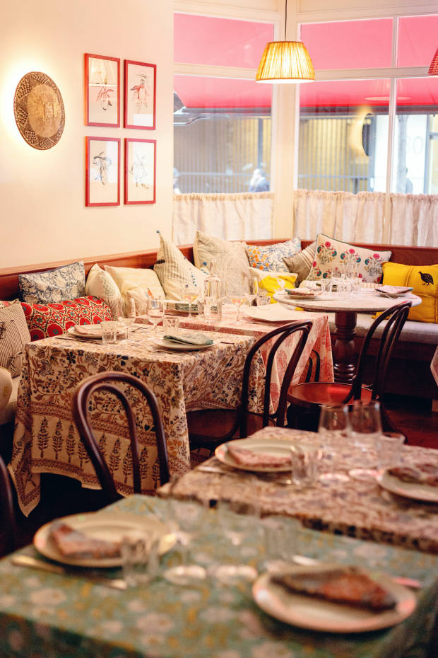 The cosy interior of Jikoni will be the setting for salons with dinner and conversation
