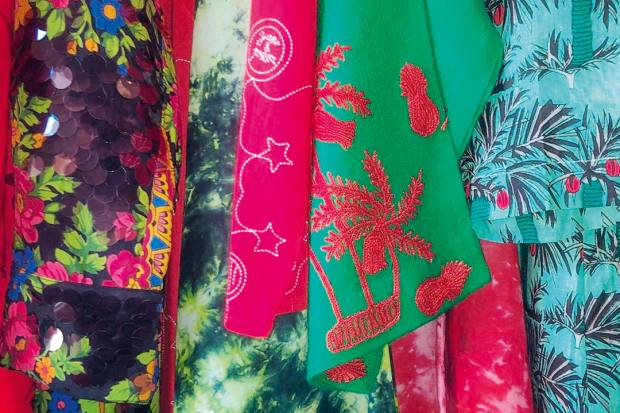 Colourful clothing from Yashu e Prem boutique, San Pantaleo