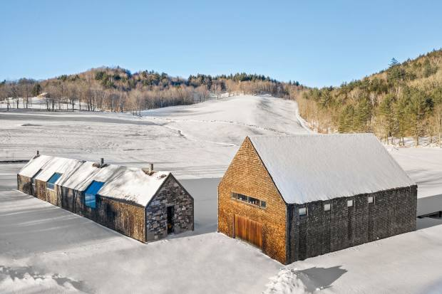 Rick Joy's barn in Vermont, $9.75m through Sotheby's International Realty