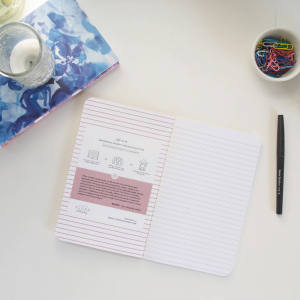 Online customers can choose from a plain layout to a diary, with options including lined, plain, graph and dotted paper, from £20