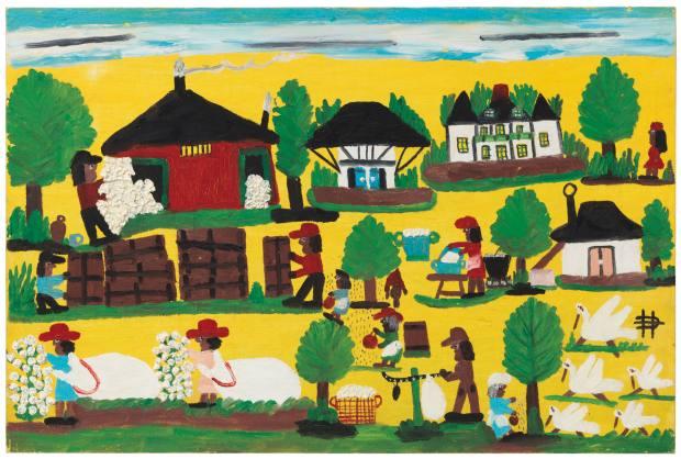Plantation Harvest (1979) by Clementine Hunter, estimated at $6,000-€8,000