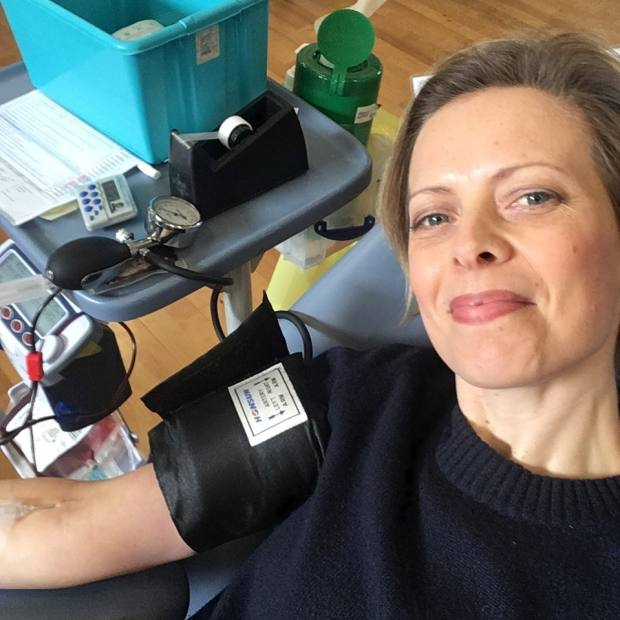 How To Spend It drinks columnist Alice Lascelles donating blood