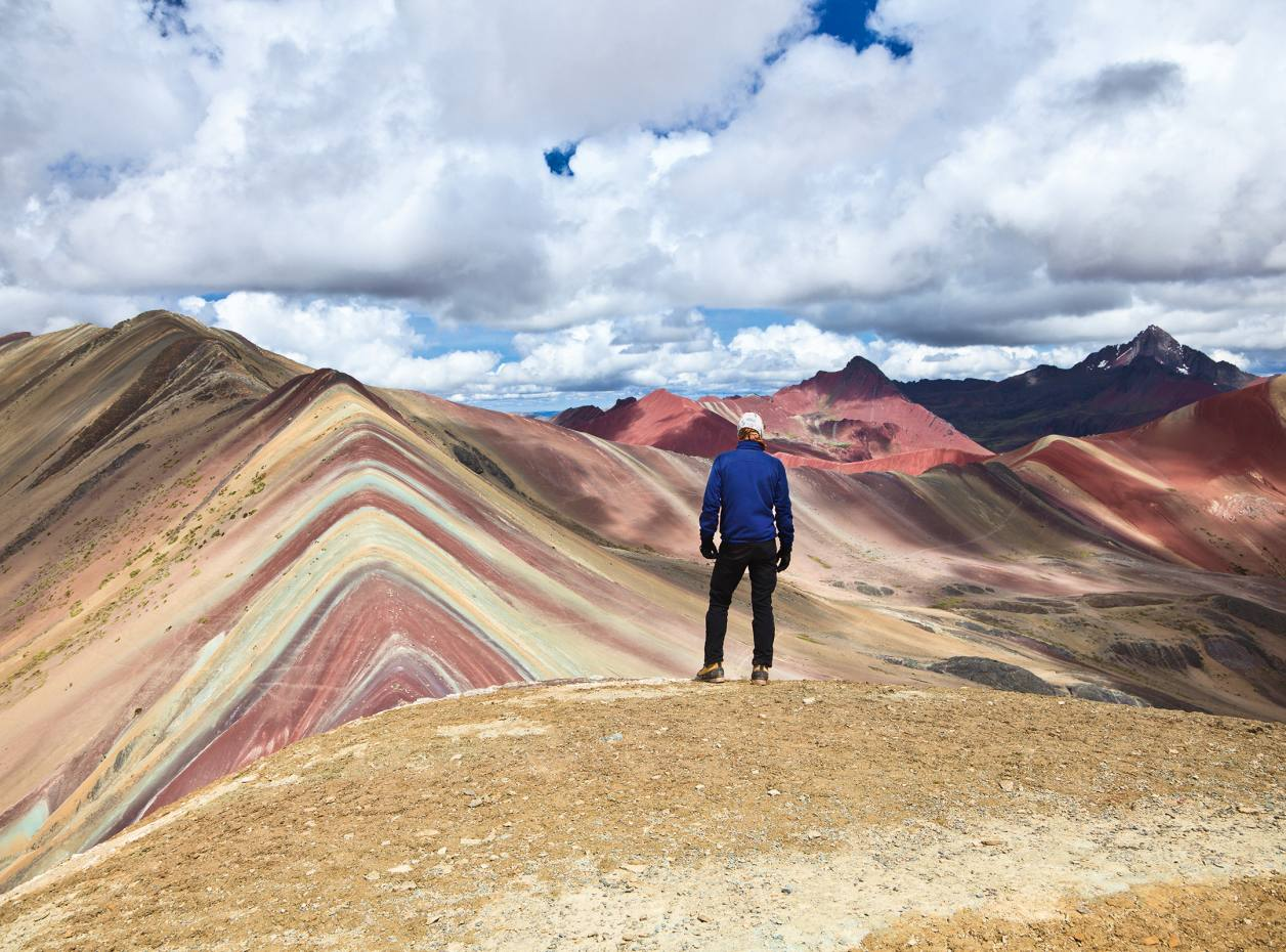 Looking out across Peru's Ausangate mountain range