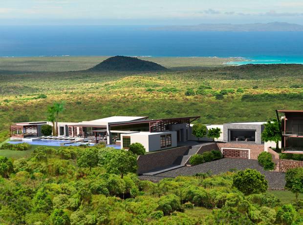 A rendering of Pikaia Lodge, opening next year on the Galápagos Island of Santa Cruz