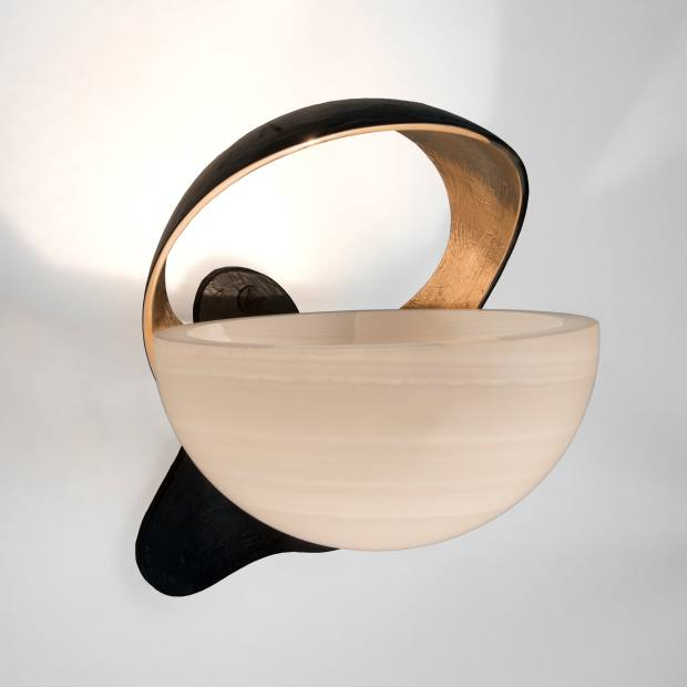 Onyx and cast-bronze Brancaleone sconce (edition of 20), €18,000