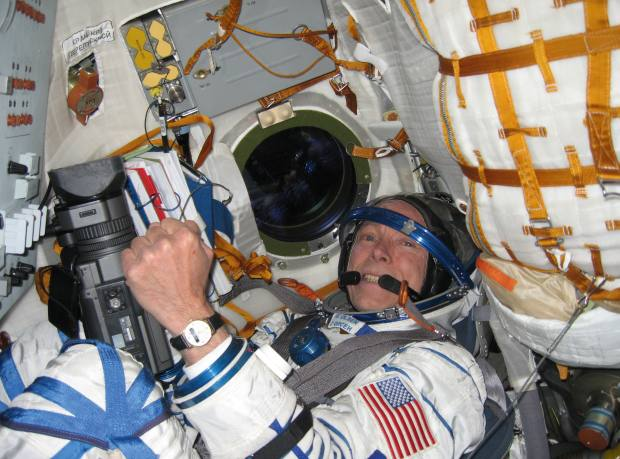 Greg Olsen in a Soyuz space craft