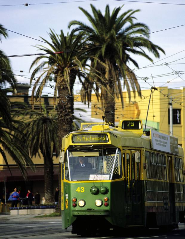 Trams are a major form of transport in Melbourne.