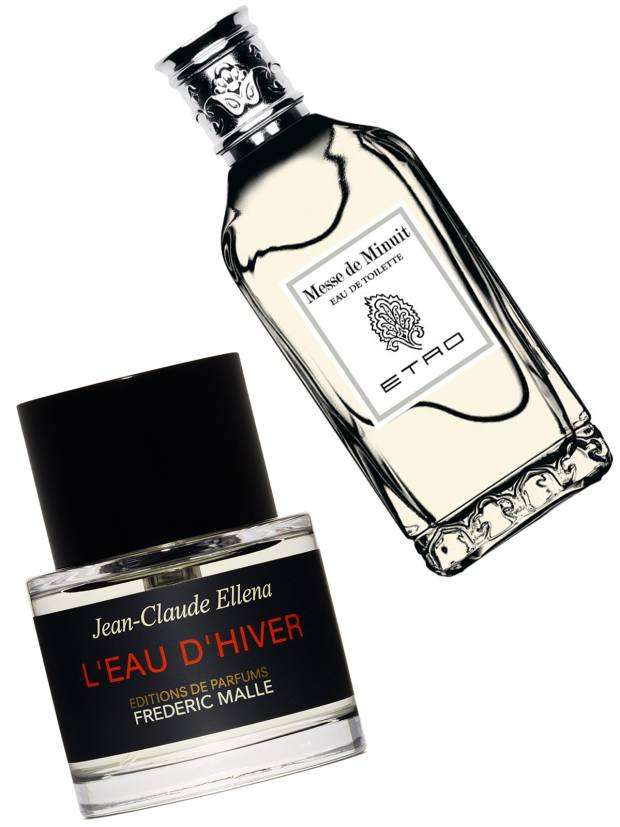From left: Frédéric Malle L'Eau d'Hiver, £155 for 100ml EDP. Etro Messe de Minuit, €110 for 100ml EDT