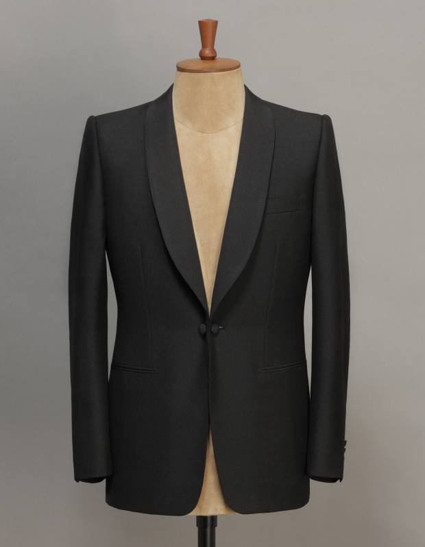 Alexander McQueen bespoke mohair jacket, from £4,080 with matching trousers