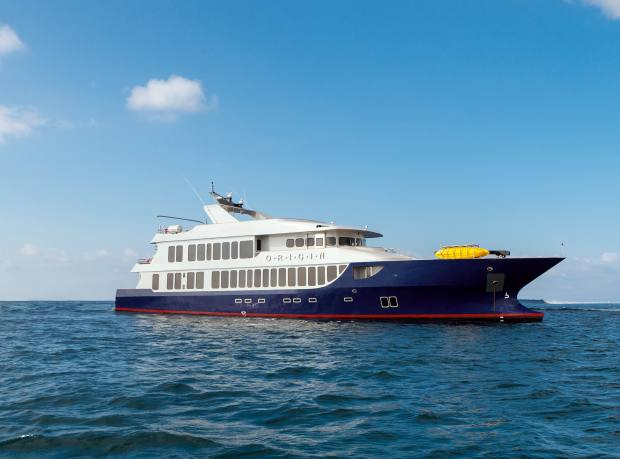 The MV Origin, which offers itineraries taking in the Galápagos' least-visited islands