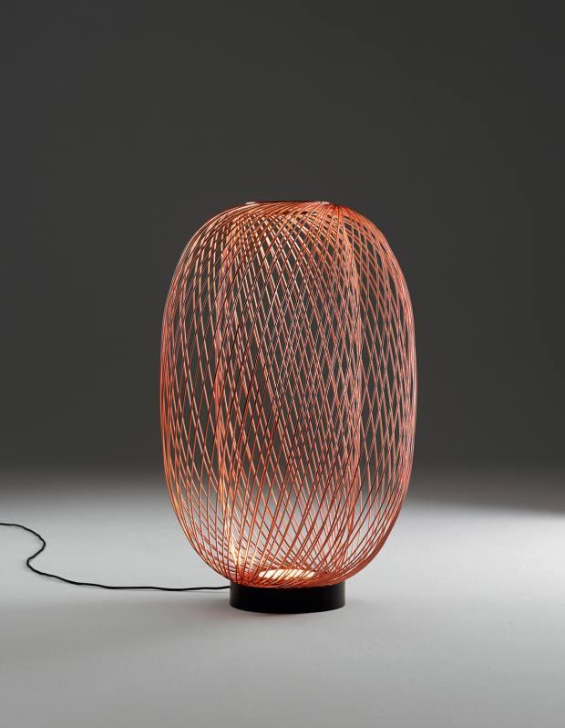 Stephen Burks for Parachilna steel Anwar floor lamp, £2,397. Stephen Burks for Dedon aluminium-mesh