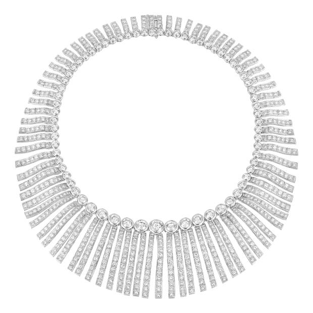 Chanel High Jewellery white gold and diamond Franges necklace from the 1932 Re-edition collection, price on request