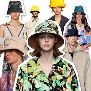 Takes on the bucket hat from Nina Ricci, Peter Pilotto, Jacquemus and Fendi