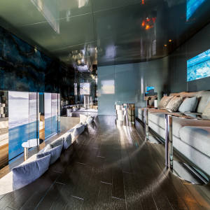 The underwater observation lounge onboard the six-cabin Savannah
