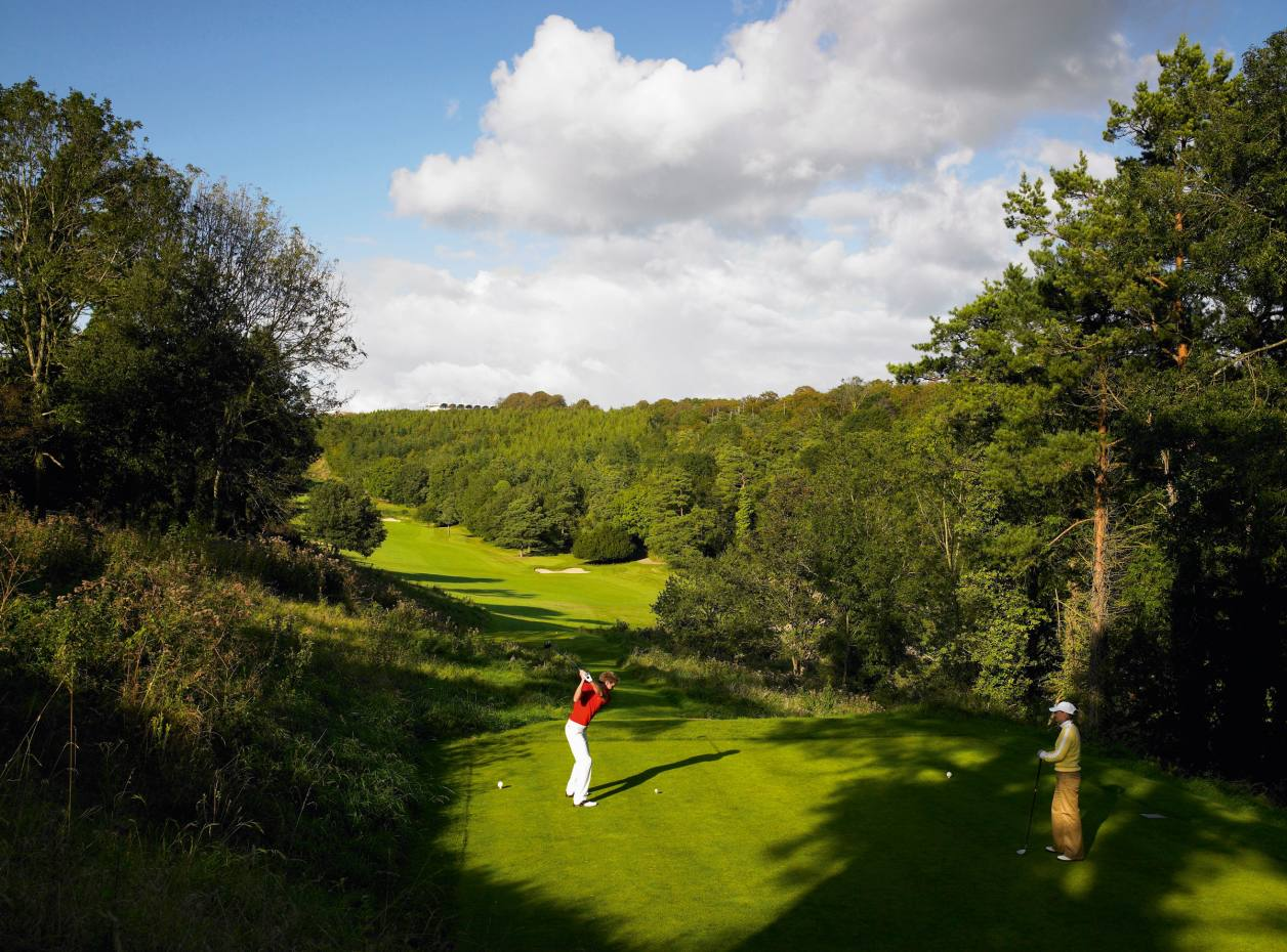The fourth hole on The Downs course at Goodwood