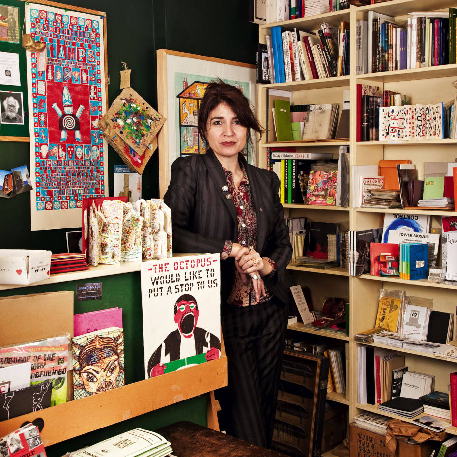 Co-founder and director Tanya Peixoto at Bookartbookshop in Hoxton, London.