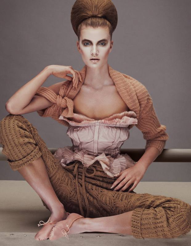 Anne Sofie wears Humanoid wool jumper, £159, from Couverture. Nina Ricci