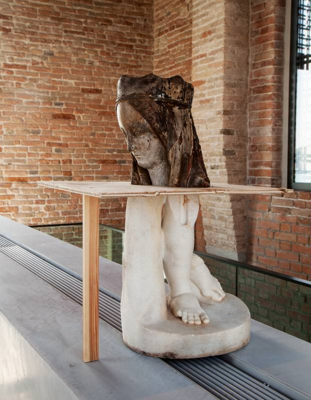 Wood and marble sculpture, 2015, by Danh Vo, price on request