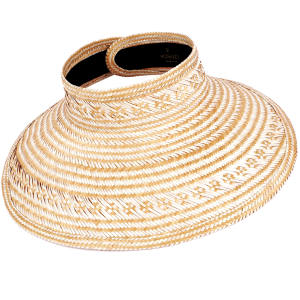 Kiera visor, £170; 10 per cent of profits from each sale goes to Cepin, which supports Guajira children